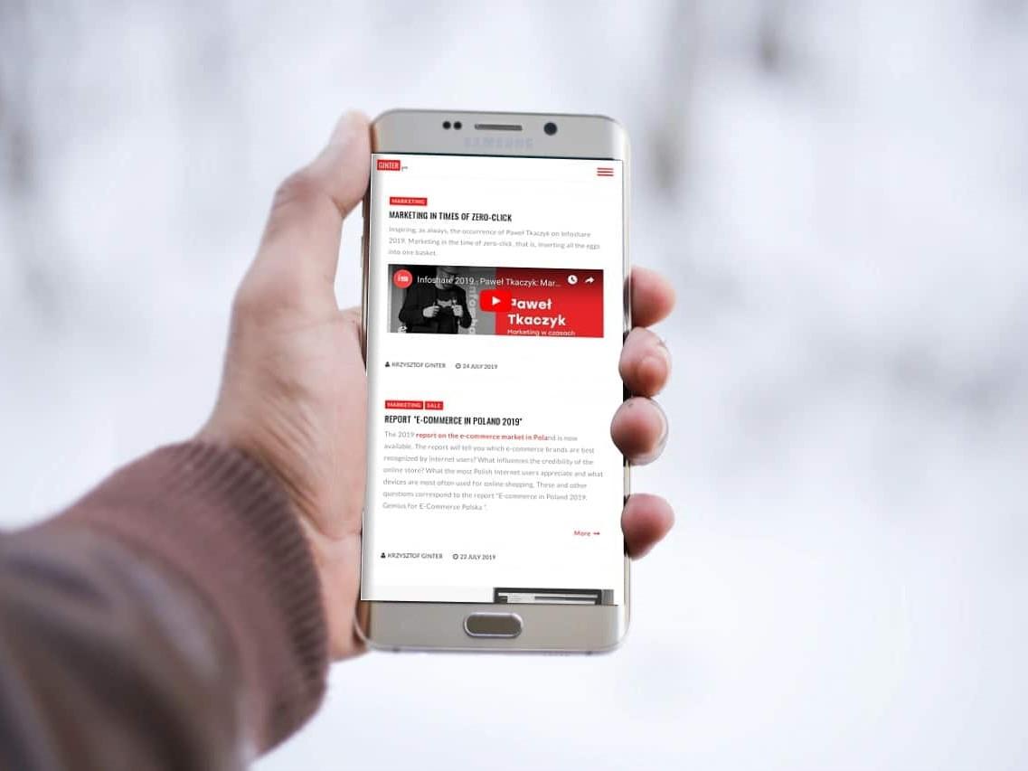 Strona internetowa Wizytówka & Blog - www.ginter.pro