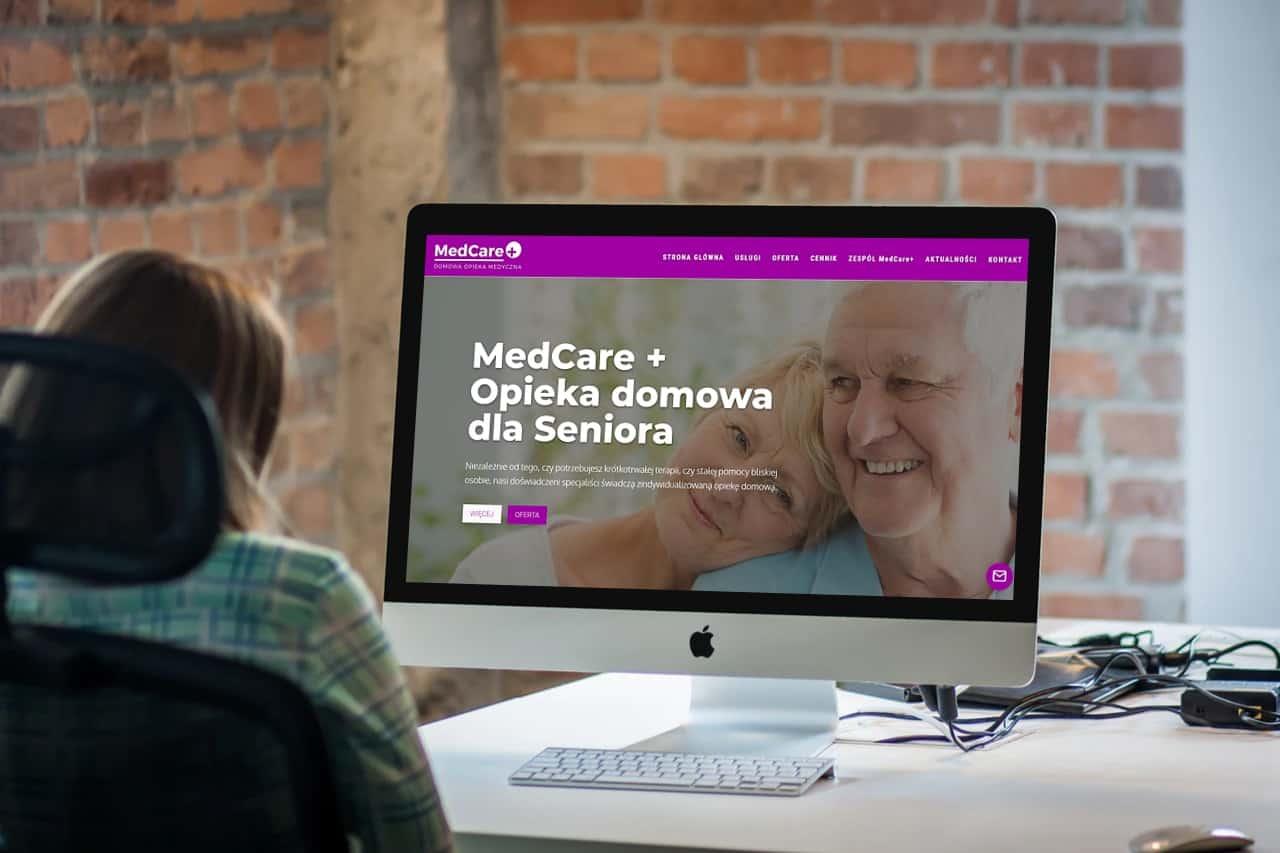 Strona internetowa dla Centrum Opieki- www.ginter.pro
