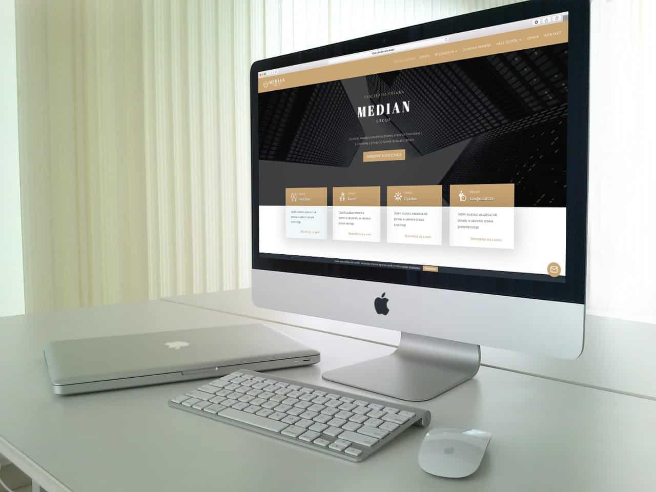 Strona internetowa dla Kancelarii Prawnej - www.ginter.pro