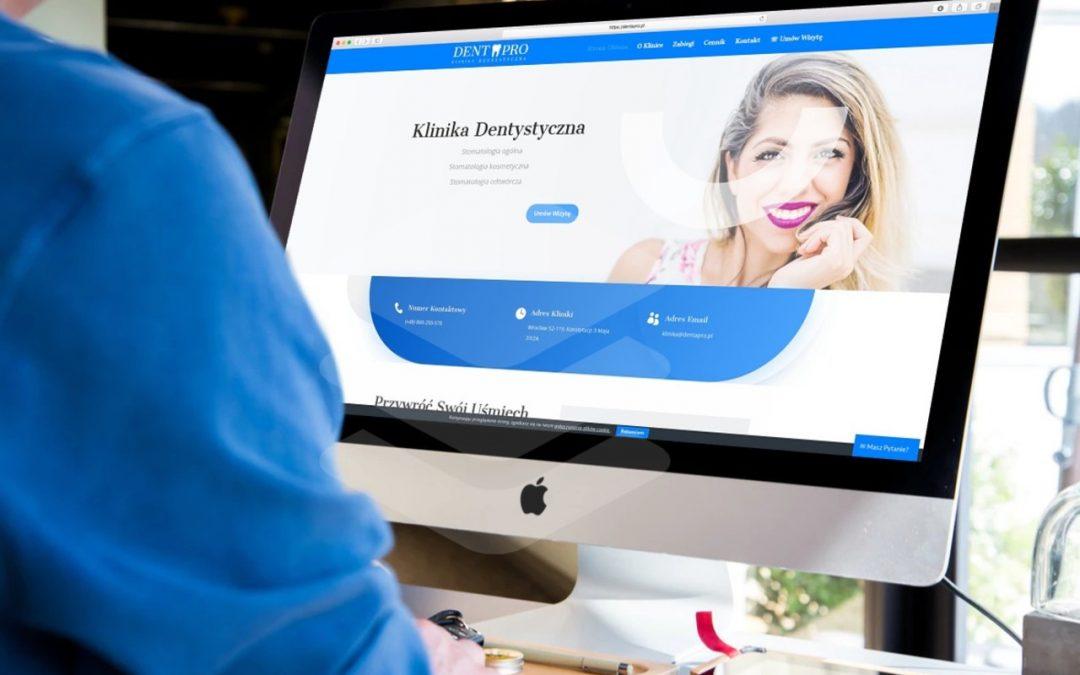 Strona internetowa dla Kliniki Dentystycznej