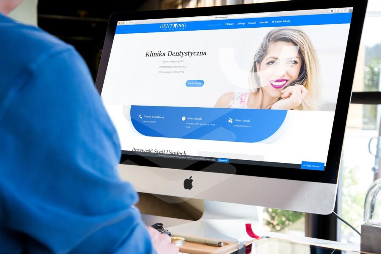 Strona internetowa dla Kliniki Dentystycznej - www.ginter.pro