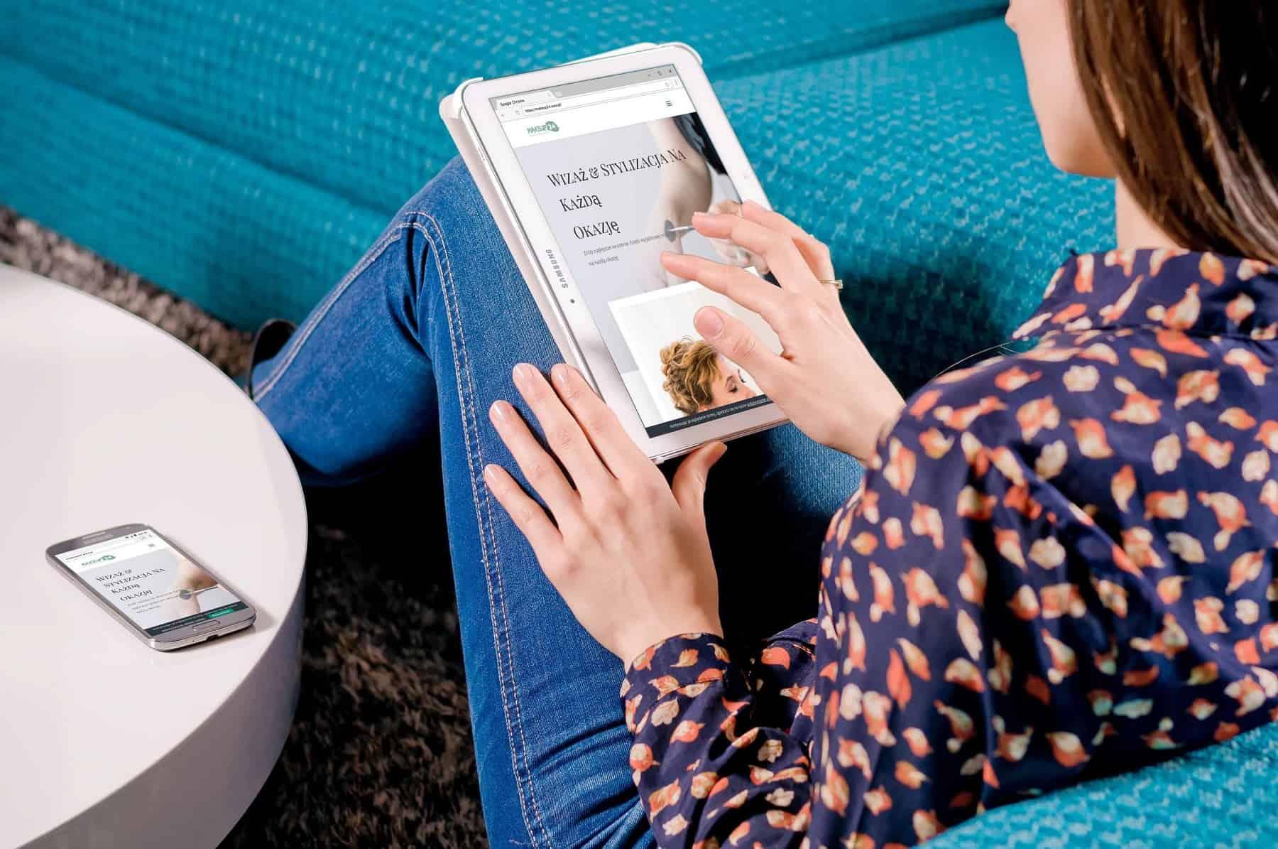 Strona internetowa dla uznanej Stylistki Wizażu - www.ginter.pro