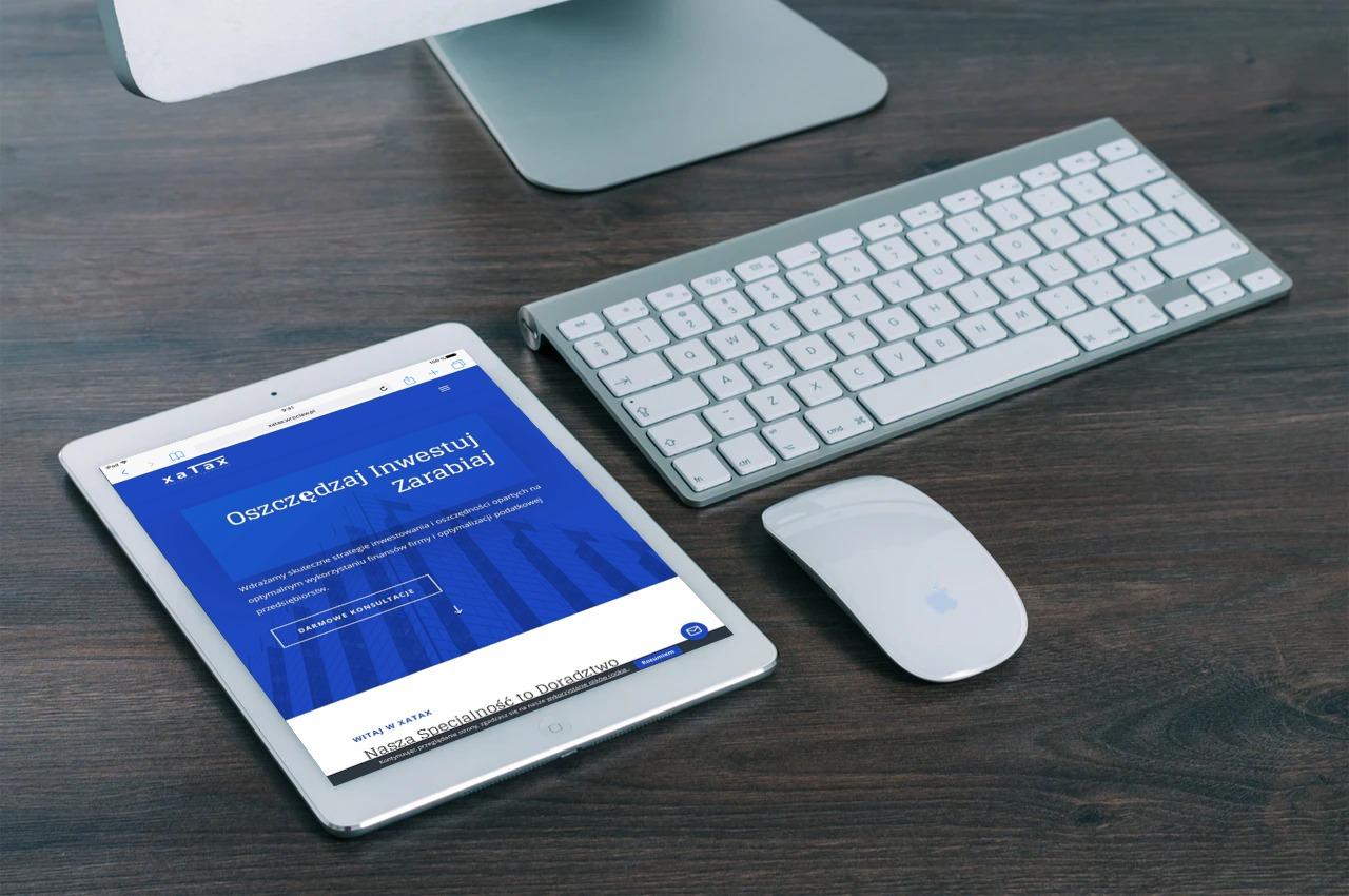 Strona internetowa dla Kancelarii Podatkowej - www.ginter.pro