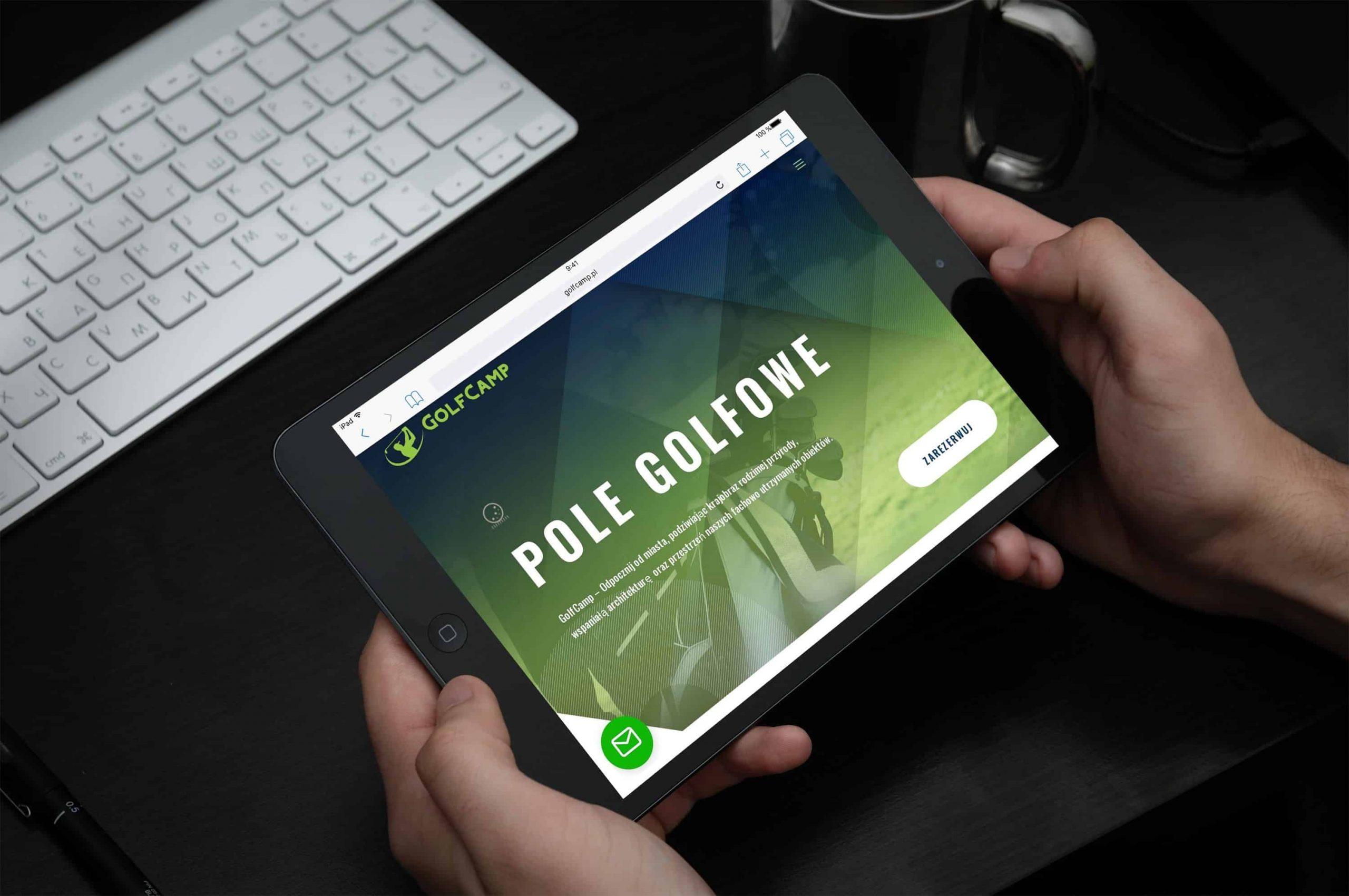 Strona internetowa dla Centrum Golfowego - www.ginter.pro