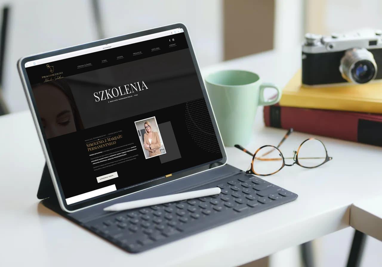 strona internetowa dla salonu kosmetycznego