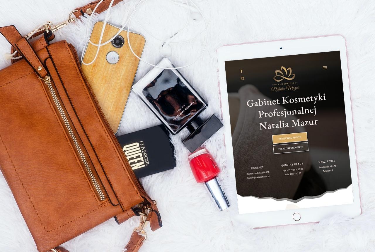Strona Internetowa dla Gabinetu Kosmetycznego - www.ginter.pro