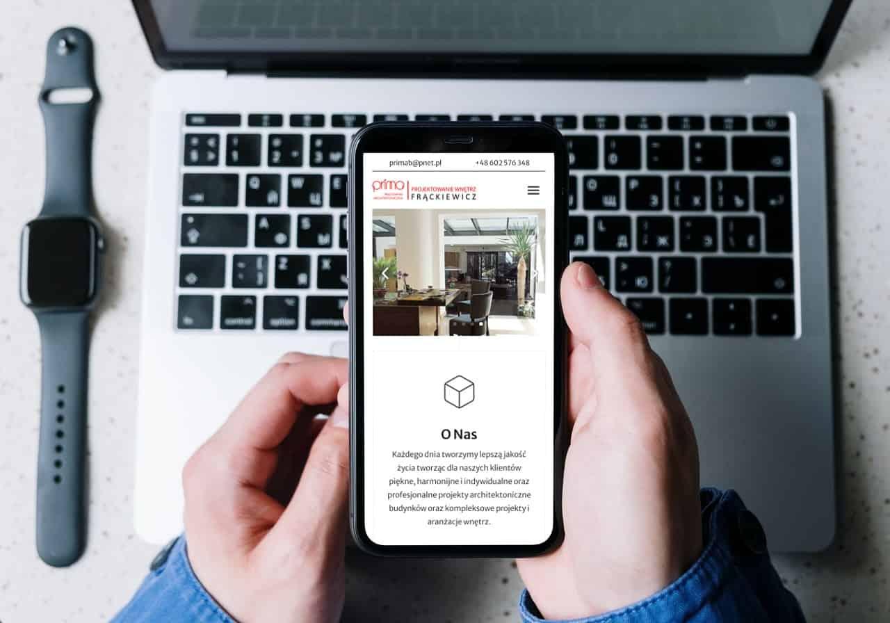 strona internetowa dla architekta - www.ginter.pro